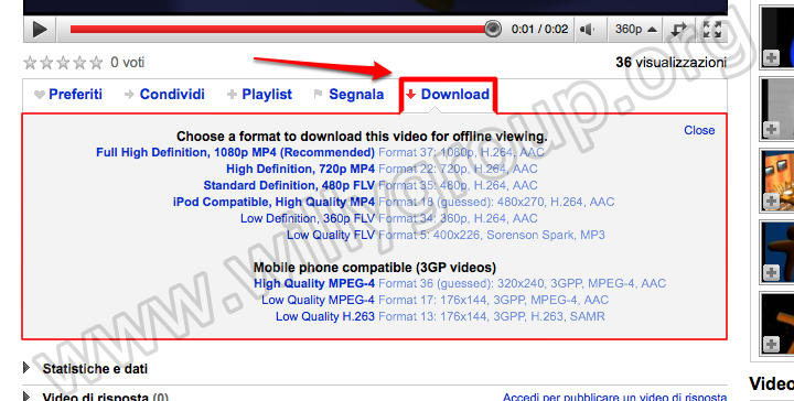 &direct |YouTube Video Downloader for GreaseMonkey in azione.