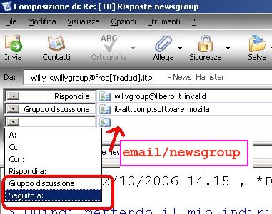 &direct |Impostare il follow-up su Mozilla Thunderbird.